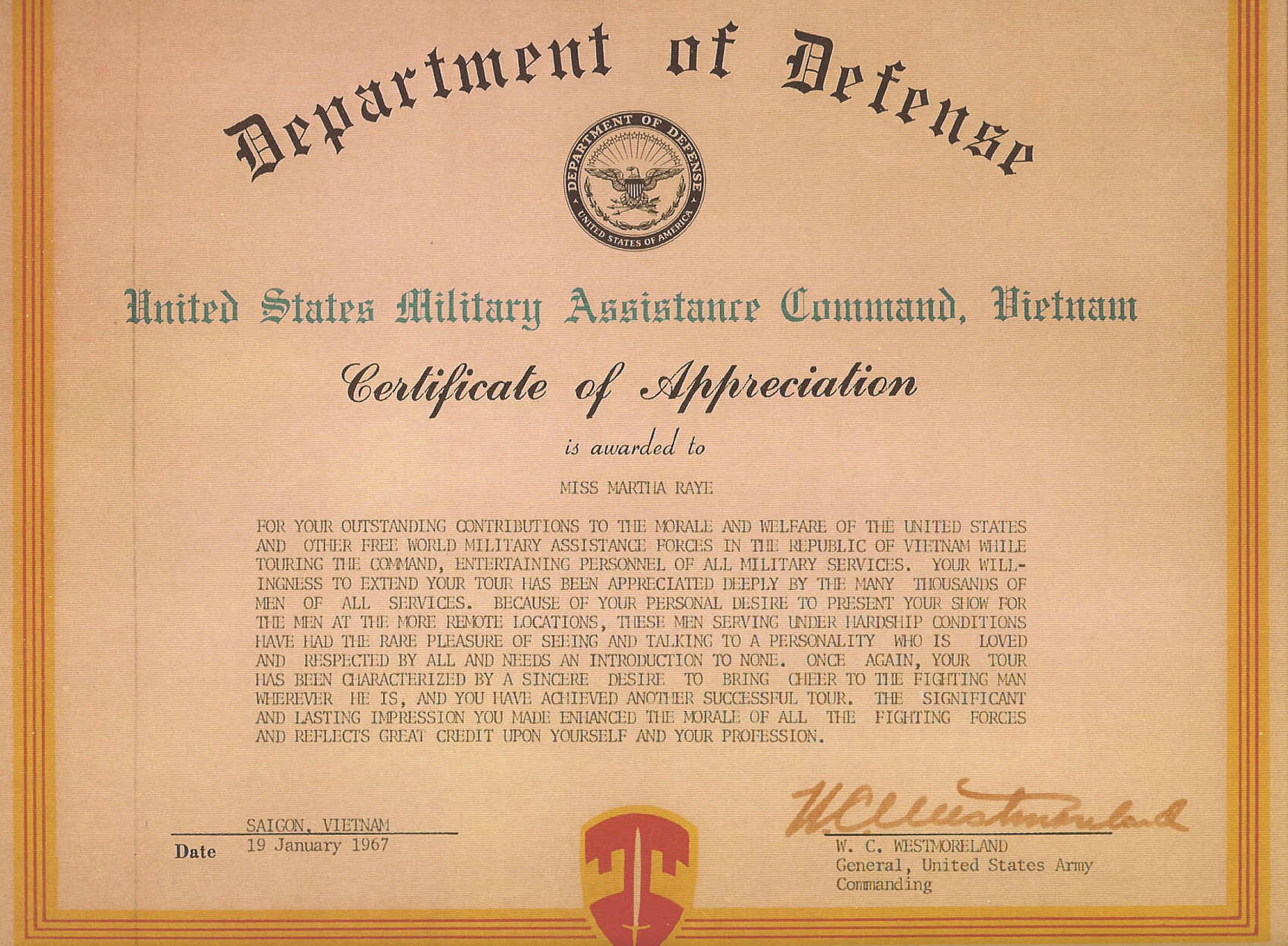 Awards for Usmc certificate of commendation template